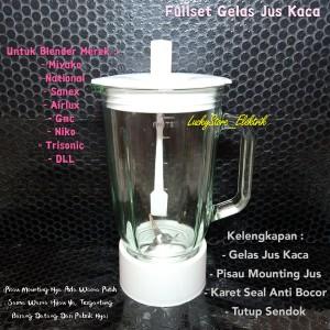 Harga gelas jus kaca set untuk blender merk miyako national sanex airlux | HARGALOKA.COM