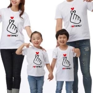 Harga couple keluarga sehati t shirt cuople cotton combed | HARGALOKA.COM