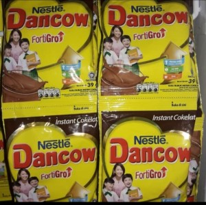Harga susu dancow fortigrow coklat sachet isi 10   | HARGALOKA.COM