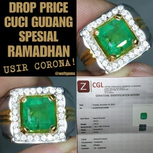Harga zamrud emerald beryl 2 5ct insignificant sertifikat cgl | HARGALOKA.COM