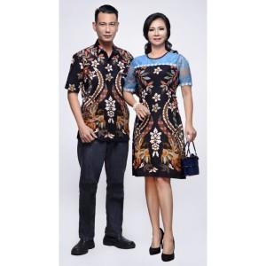 Harga jumbo 4l amp 5l nagita hitam dress batik wanita kombinasi broklat   hitam | HARGALOKA.COM