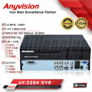 Harga dvr xvr anyvision 4 ch 2mp 1080p xvr anyvision 4 channel 2mp 1080p | HARGALOKA.COM