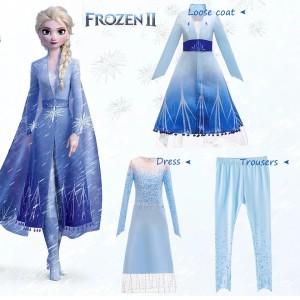 Harga baju elsa frozen 2 princess anak kostum elsa frozen 2 baru 3pcs cg76   size | HARGALOKA.COM