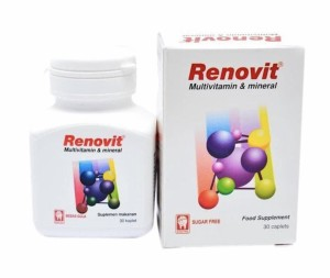 Harga renovit isi 30 tablet multivitamin lengkap untuk daya tahan tubuh | HARGALOKA.COM