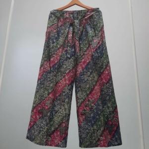 Harga celana kulot jumbo wanita joger santai motif ganj4 warna warni   | HARGALOKA.COM