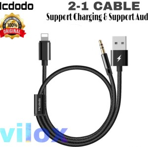 Harga mcdodo kabel lightning to jack 3 5mm audio aux speaker 2in1 iphone 7 | HARGALOKA.COM