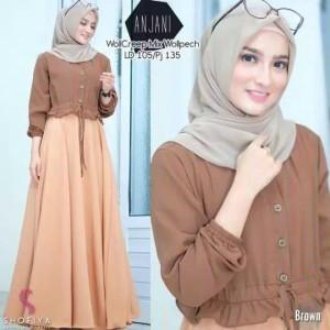 Harga baju gamis wanita terbaru baju muslim termurah anjani | HARGALOKA.COM