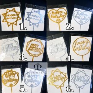 Harga Cake Topper Happy Birthday Tusukan Hiasan Kue Hbd Sambung Acrylic Katalog.or.id