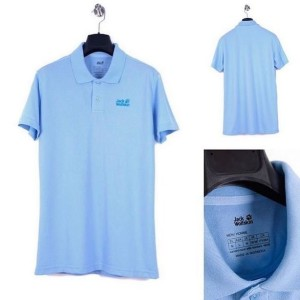 Harga kaos pria jack wolfskin polo shirt blue | HARGALOKA.COM