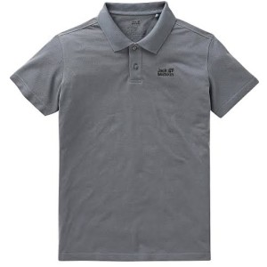 Harga kaos pria jack wolfskin polo shirt grey | HARGALOKA.COM