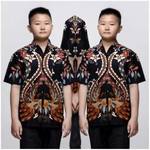 Harga nagita hitam kemeja batik anak laki laki baju batik anak cowok   | HARGALOKA.COM
