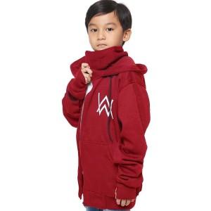 Harga jaket anak laki laki alan walker ninja maroon   | HARGALOKA.COM