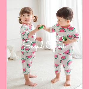 Harga seoul onni korea baju tidur anak bayi setelan piyama   pink melon   | HARGALOKA.COM
