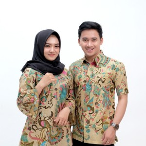 Harga baju batik couple modern seragam kantor   motif | HARGALOKA.COM