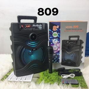 Harga speaker bluetooth model koper tipe 809 plus mic karaoke ukuran   HARGALOKA.COM