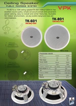 Harga ceiling speaker vpk tk801 public address | HARGALOKA.COM