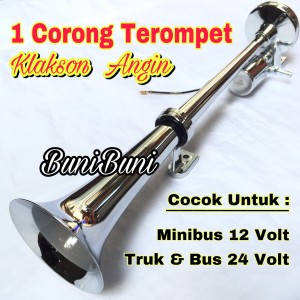 Harga klakson angin air horn 1 corong terompet untuk mobil truk 12 24 | HARGALOKA.COM