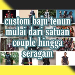 Harga custom baju tenun satuan custom baju tenun | HARGALOKA.COM