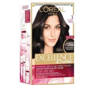 Harga l 39 oreal excellence creme pewarna rambut   3 dark brown fitur | HARGALOKA.COM