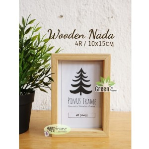 Harga frame foto bingkai foto kayu wooden nada 4r 10x15cm | HARGALOKA.COM