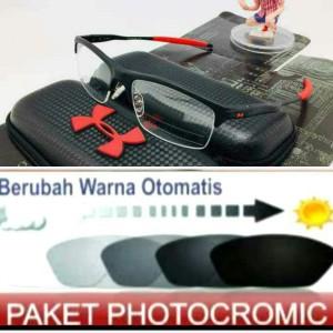 Harga kacamata minus pria model sporty gratis lensa radiasi photocromic | HARGALOKA.COM