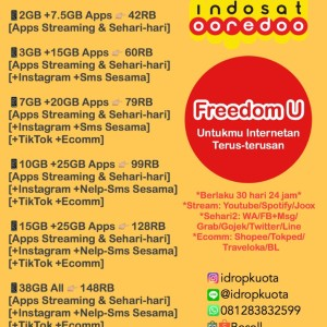 Harga paket data kuota internet indosat ooredoo im3 amp mentari   u | HARGALOKA.COM