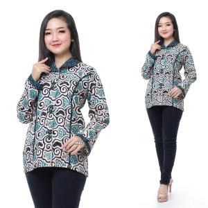 Harga atasan wanita atasan batik blouse batik batik pekalongan   hijau | HARGALOKA.COM