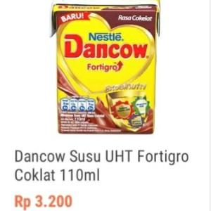 Harga dancow susu uht fortigro coklat 110   HARGALOKA.COM