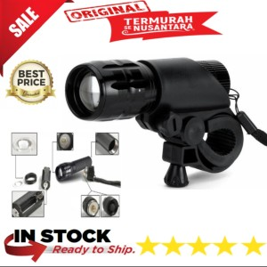 Harga senter lampu sepeda led zoom mini taffware cree q5 2000 | HARGALOKA.COM