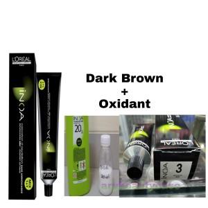 Harga l 39 oreal hair color pewarna rambut loreal inoa 3 dark brown plus | HARGALOKA.COM