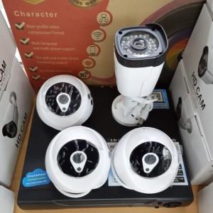Harga paket 3 indoor 1 outdoor lens 4mp komplit hardisk dan kabel | HARGALOKA.COM