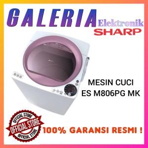 Harga mesin cuci 1 tabung top loading sharp esm806pgm 8kg es m806p gm   HARGALOKA.COM
