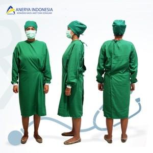 Harga baju apd surgical gown jubah operasi bahan katun   HARGALOKA.COM
