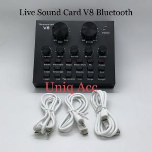 Harga soundcard v8 bluetooth live mixer sound card v8 audio usb   HARGALOKA.COM