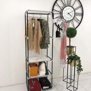 Harga stand hanger serbaguna 2in1   cokelat | HARGALOKA.COM