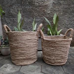 Harga keranjang pandan natural size besar pot bunga cover pot | HARGALOKA.COM