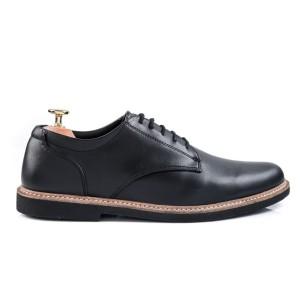 Harga sepatu pantofel pria kulit asli hitam harmel derby classic   hitam | HARGALOKA.COM