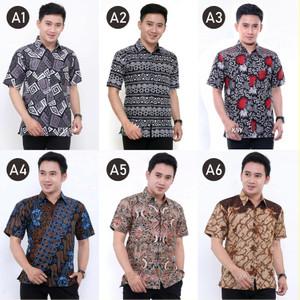 Harga kemeja batik pria lengan pendek murah grosir kemeja batik   HARGALOKA.COM