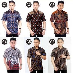Harga baju batik pria baju batik cowok baju kemeja batik pria   HARGALOKA.COM
