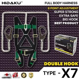Harga full body harness hidaku type x7 double hook safety belt hidaku   HARGALOKA.COM
