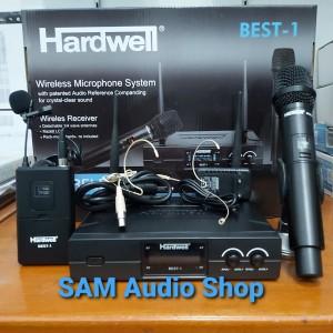 Harga mic wireless hardwell best 1 handle clipon headset | HARGALOKA.COM