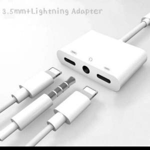 Harga lightning adaptor 3in1 charger n audio jack 3 5mm iphone 5 6 7 8 8 x   | HARGALOKA.COM