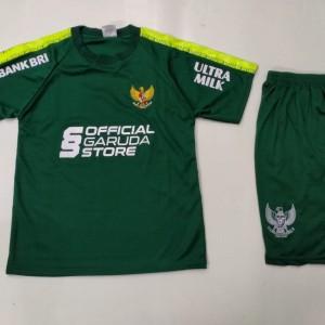 Harga setelan bola anak anak training garuda indonesia   hijau 4   6   | HARGALOKA.COM