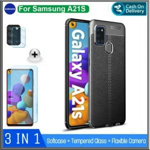 Harga soft case samsung a21s casing bonus tempered glass samsung galaxy | HARGALOKA.COM