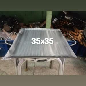 Harga wajan plat persegi uk 35x35 cm panggangan roti bakar sosis | HARGALOKA.COM