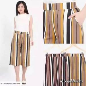 Harga celana kulot motif salur pendek 7 8 size dewasa jumbo dan | HARGALOKA.COM