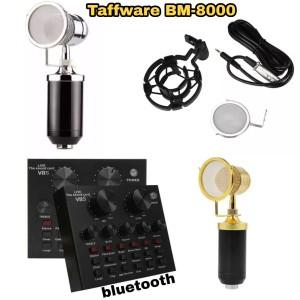 Harga paket mic taffware bm 8000 sound card v 8s   hitam | HARGALOKA.COM