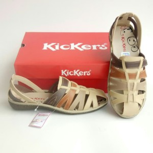 Harga sepatu wanita sandal wanita sepatu kickers women kode 015   krem coklat | HARGALOKA.COM