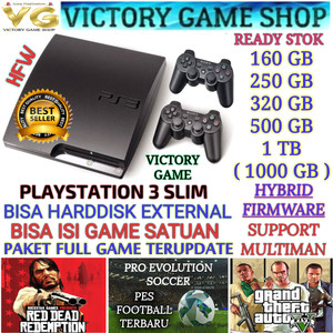 Harga ps3 ps 3 playstation 3 slim 500gb ofw stik full game bisa milih   hdd 160gb | HARGALOKA.COM