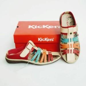 Harga sepatu wanita sepatu sandal cewe sepatu kickers women kode 013   merah | HARGALOKA.COM